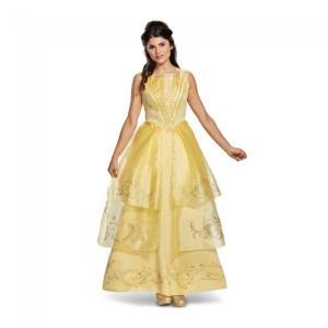 ベル 美女と野獣 ロングドレス Deluxe 衣装、コスチューム 大人女性用 Belle Ball Gown Deluxe Adult amecos
