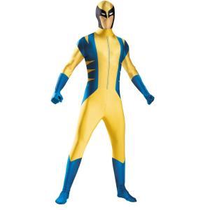 ウルヴァリン X-MEN 大人男性用 衣装、コスチューム コスプレ WOLVERINE BODYSUIT ADULT COSTU|amecos