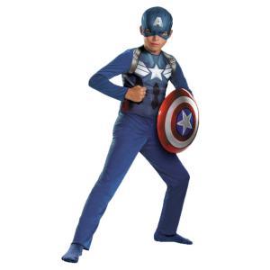 キャプテンアメリカ アベンジャーズ 衣装、コスチューム 子供男性用 CAPT AMERICA AVENG CHILD SM|amecos