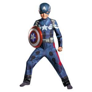 キャプテンアメリカ アベンジャーズ 衣装、コスチューム 子供男性用 CAPT AMERICA MOVIE|amecos