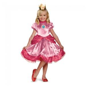 ピーチ姫 衣装、コスチューム 子供女性用 スーパーマリオブラザーズ コスプレ|amecos