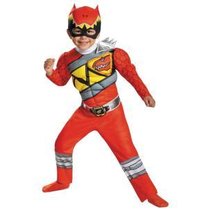 レッドレンジャー パワーレンジャー・ダイノチャージ 衣装、コスチューム 子供男性用 コスプレ RED RANGER DINO MUSCLE|amecos