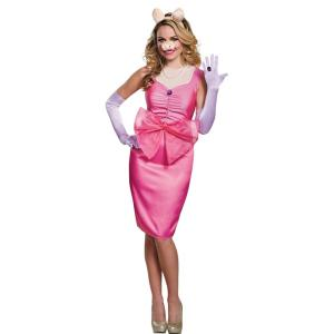 ミス・ピギー セサミストリート 大人女性用 衣装、コスチューム コスプレ MISS PIGGY DELUXE ADULT|amecos