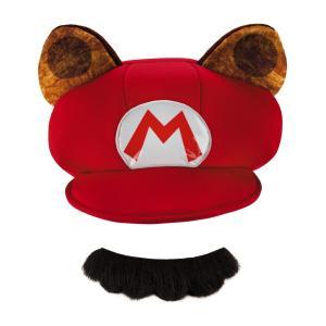 しっぽマリオ 帽子&髭 大人用 スーパーマリオ ハロウィン