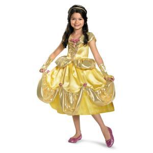 ベル ドレス 衣装 、コスチューム 美女と野獣 LAME DLX 子供女性用コスプレ衣装 amecos