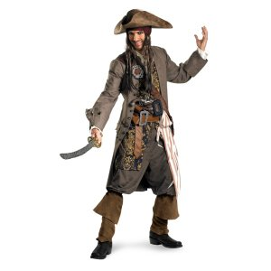 海賊 ジャックスパロウ RENTAL 衣装 、コスチューム 大人男性用 パイレーツオブカリビアン