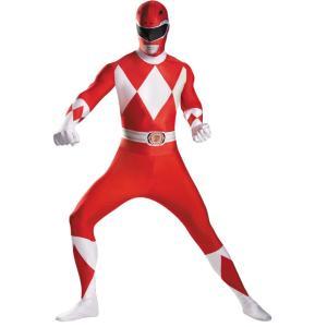 パワーレンジャー 衣装、コスチューム 大人男性用 レッド 戦隊 RED RANGER|amecos