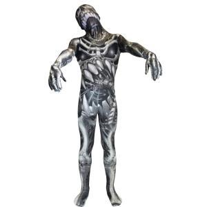 骸骨 衣装、コスチューム 大人男性用 ホラー 全身タイツ MORPH SKULL N BONES amecos
