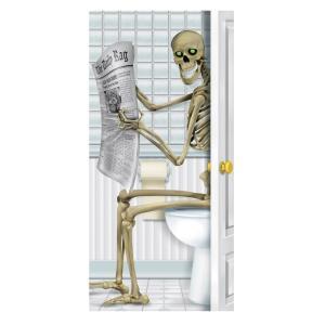 スケルトン トイレ ドアカバー ハロウィンデコレーション amecos