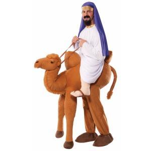 ラクダに乗っているかのようなコスチューム。こぶが特徴的なラクダのぬいぐるみがついたパンツです。アラビ...