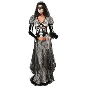 Boneyard Bride 骸骨 ドクロ 衣装 、コスチューム 大人女性用 花嫁 ホラー HQ amecos