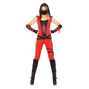 忍者 大人女性用コスチューム 4PC.Ninja Assassin|amecos