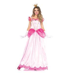 ピーチ姫風 大人女性用コスチューム 2PC.Classic Pink Princess|amecos