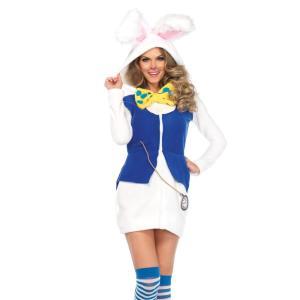 大きなファーの耳がキュートな「ふしぎの国のアリス」に登場する白ウサギの大人女性用コスチュームです。 ...