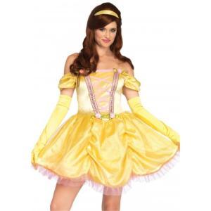 ベル風 美女と野獣 衣装、コスチューム 大人女性用 3PC.Enchanting Princess,dress, amecos