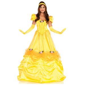 ベル風 美女と野獣 衣装、コスチューム 大人女性用 ロングドレス amecos