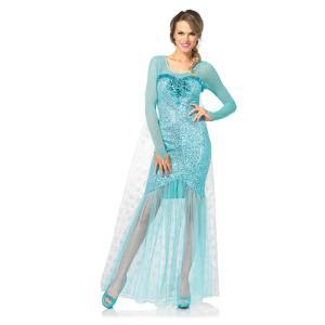 雪の女王 衣装、コスチューム 大人女性用 ドレス お姫様 Fantasy Snow Queen|amecos