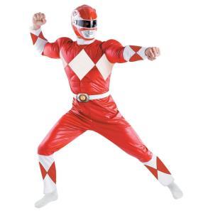 パワーレンジャー ヒーロー 衣装 、コスチューム Classic 大人男性用 Red Ranger|amecos