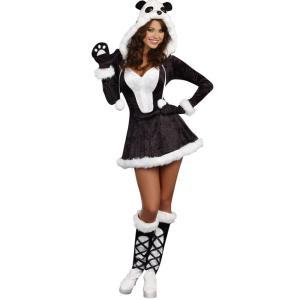 パンダ 動物 衣装 、コスチューム 大人女性用 コスプレPANDA BEAR BABY amecos