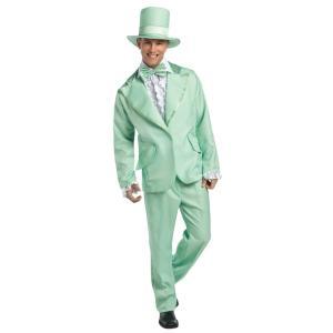 ダンサー スーツ タキシード 衣装、コスチューム 大人男性用 70S FUNKY TUXEDO PASTEL GREEN amecos