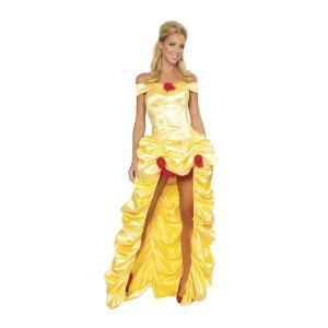 ベル風 ロングスカートドレス 衣装 、コスチューム 大人女性用 DLX 美女と野獣 amecos