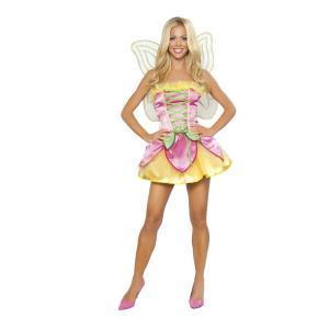 妖精 衣装 、コスチューム 大人女性用 ドレス ピンク&イエロー Springtime|amecos