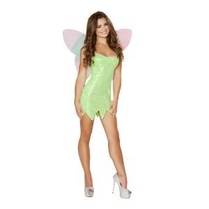 妖精 グリーン 衣装、コスチューム 大人女性用 Playful Pixie|amecos