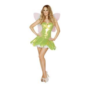 妖精 グリーン 衣装、コスチューム 大人女性用 Feisty Fairy|amecos