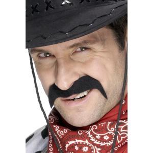 ひげ ブラック カウボーイ風 大人男性用 Cowboy Tash amecos