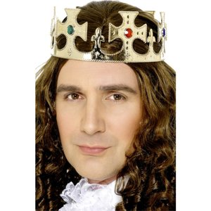 王冠 ゴールド 王様風 宝石 大人男性用 Jewelled King's Crown|amecos