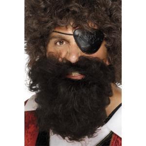 あごひげ ブラウン 海賊風 デラックス 大人男性用 Pirate Beard|amecos