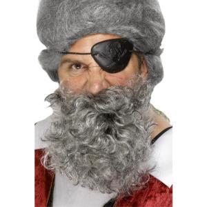 あごひげ ライトグレー 海賊風 デラックス 大人男性用 Pirate Beard|amecos
