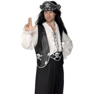 帽子 ベスト ベルト 黒 海賊風 大人男性用 Pirate Set|amecos