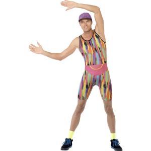 1990年代風 マルチカラー 衣装、コスチューム エナジー 大人男性用 Mr Energizer amecos