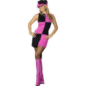 レトロ スウィング 黒 ピンク 衣装、コスチューム 大人女性用 Swinging 60s amecos