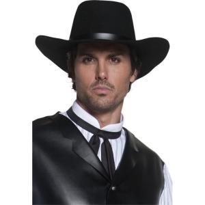 帽子 黒 ガンスリンガー風 ウエスタン 大人男性用 Western Gunslinger Hat amecos