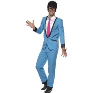 50's レトロ 青 衣装、コスチューム 不良 大人男性用 Teddy Boy amecos
