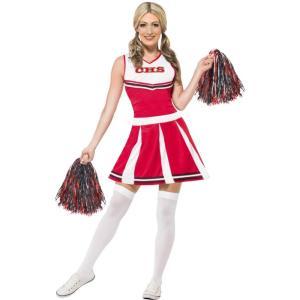 チアリーダー 赤 衣装、コスチューム ユニフォーム 大人女性用 Cheerleader|amecos