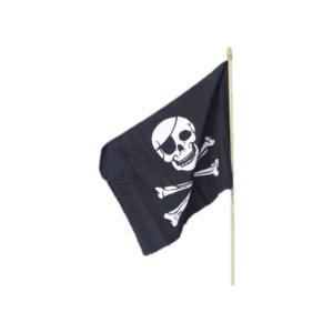 海賊旗 黒 ドクロ 45cm×30cm Pirate Flag|amecos