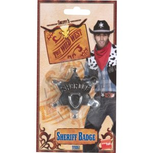 バッジ 保安官風 ウエスタン 大人男性用 Sheriff Star Badge amecos