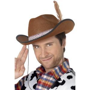 帽子 茶 テキサス ダラス風 大人男性用 Dallas Hat amecos