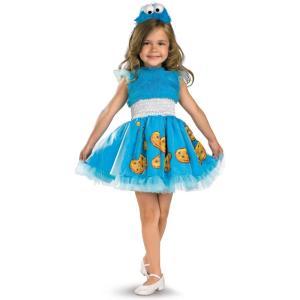 クッキーモンスター フリル付き衣装 コスチューム 幼児/子供女性用 セサミストリート|amecos