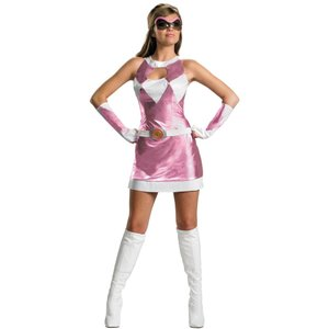 マイティモーフィンパワーレンジャー ピンクレンジャー 衣装、コスチューム大人女性用|amecos