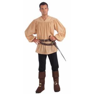 中世の騎士 シャツ 衣装、コスチューム ベージュ 大人男性用|amecos