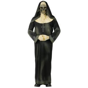 骸骨 ドクロ 衣装 、コスチューム 大人女性用 ホラー 修道女 シスター