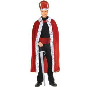 王様キット ローブ レッド 大人男性用 王冠 クラウン キング|amecos