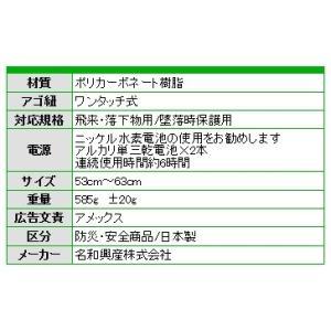 ヘルメット クールヘルメット KAZE G型VHS-CPNF 名和興産 熱中症対策商品|amecss|04