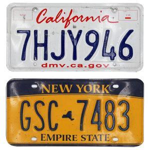 ビンテージナンバープレート ライセンスプレート ニューヨーク/カリフォルニア|amegare