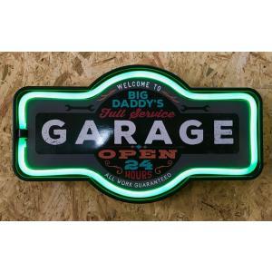 ネオン風LEDロープサイン GARAGE|amegare