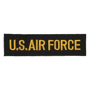 ワッペン U.S. AIR FORCE アメリカ空軍 ブラック amegare